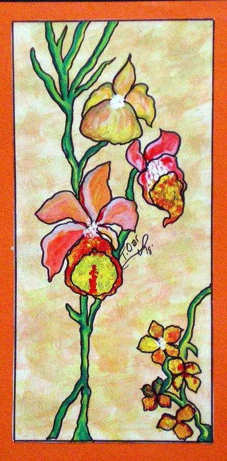 Warm Flower Study Painting by Tammera Malicki-Wong