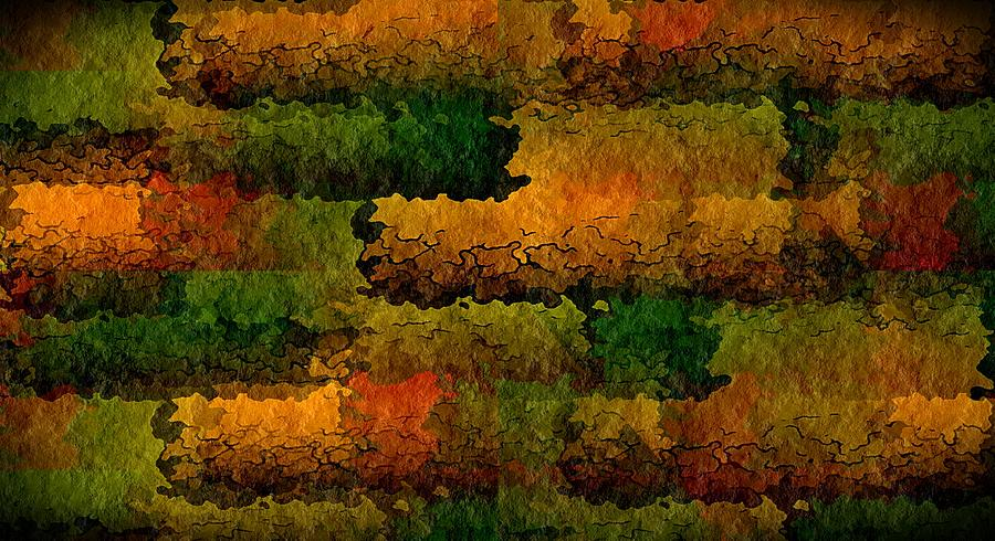 Abstract Digital Art - Warm Georgia Clay by Terry Mulligan