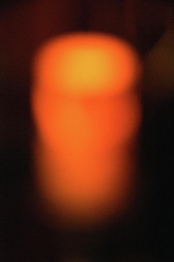 Candle Photograph - Warm Glow by Brian OKelly