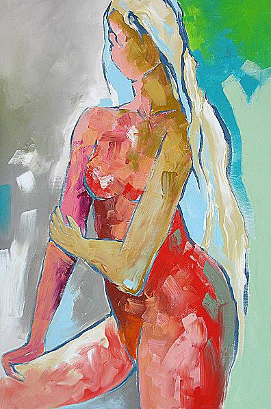 Monfort Painting - Warm Shower by Linda Monfort