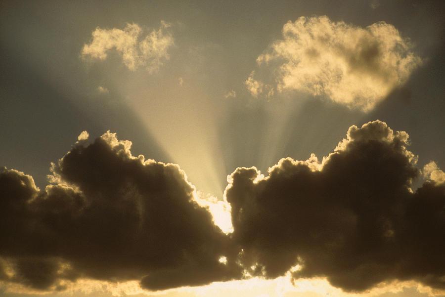 Cloud Photograph - Warm Sky by Gerard Fritz