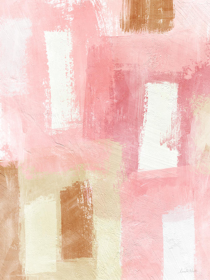 Pink Painting - Warm Spring 2- Abstract Art by Linda Woods by Linda Woods