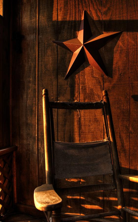 Rocking Chair Photograph - Warm Tones by Paul Mullin