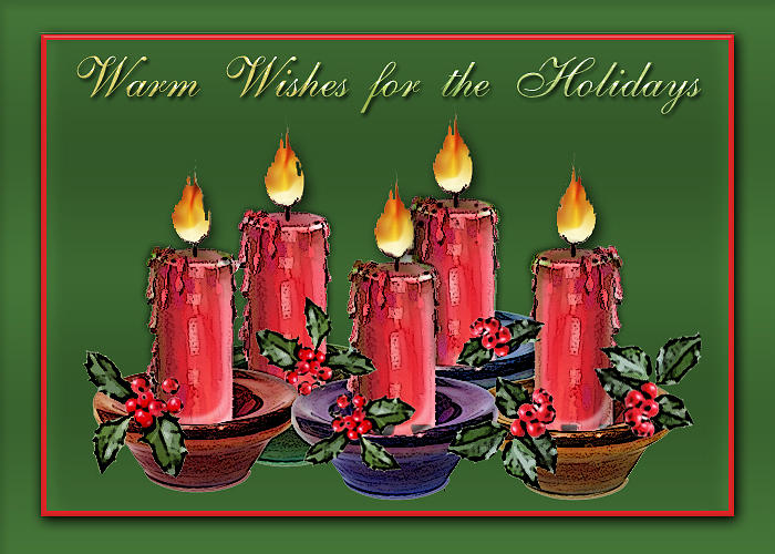 Candle Digital Art - Warm Wishes by Arline Wagner