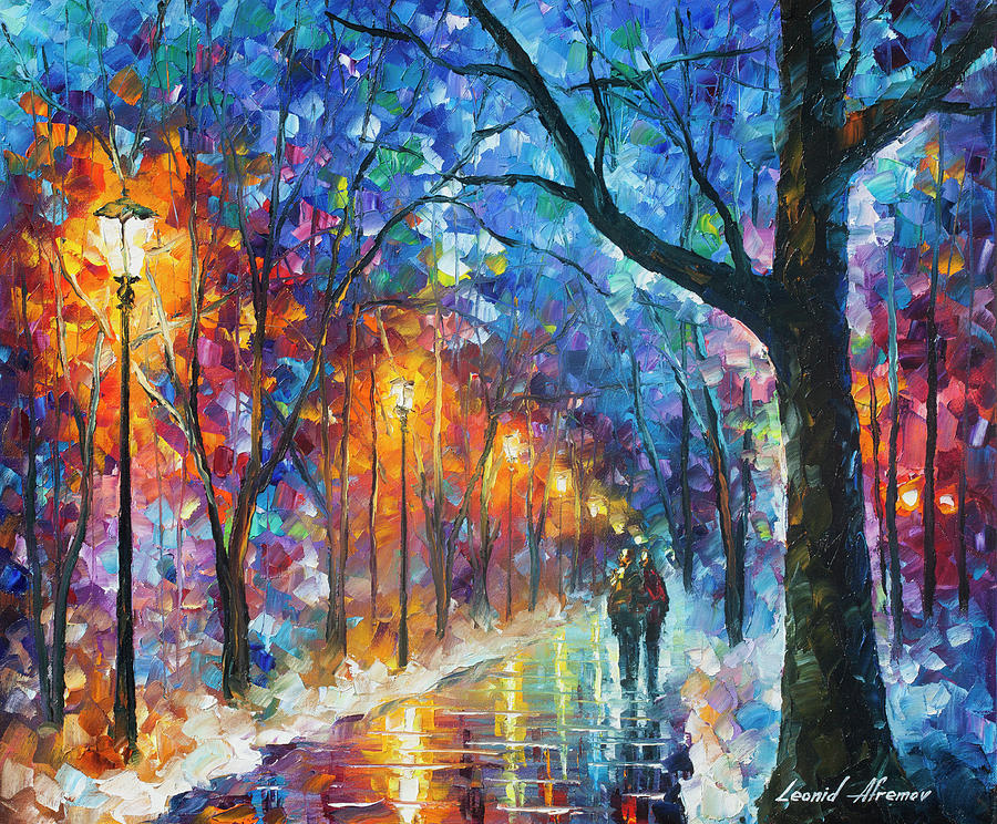 Afremov Painting - Warmed by Love by Leonid Afremov