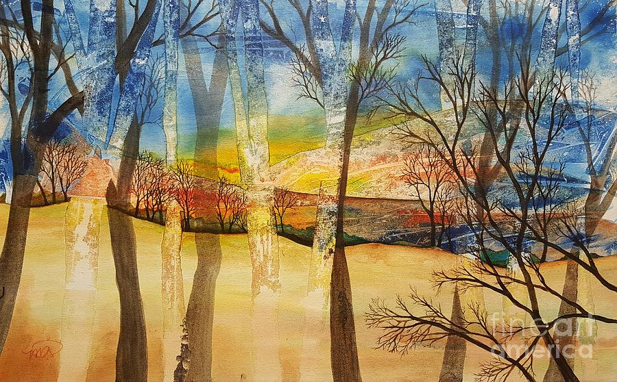 Landscape Painting - Warmth Waiting Beyond the Hill by Melissa Perhamus