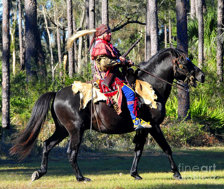 Seminole Indian Photograph - Warpath by David Lee Thompson