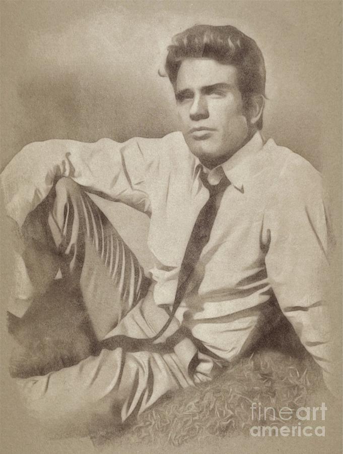 Warren Beatty, Hollywood Legend By John Springfield Drawing