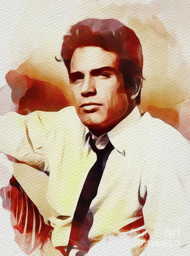 Warren Painting - Warren Beatty, Vintage Movie Star by John Springfield