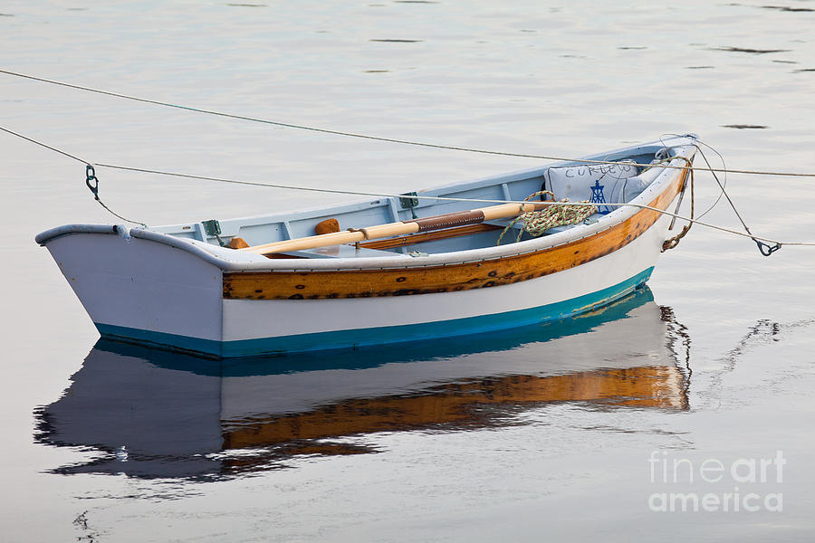 Autumn Photograph - Warren Rowboat by Susan Cole Kelly