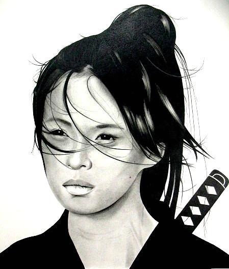 Girl Drawing - Warrior by Kane Leinonen