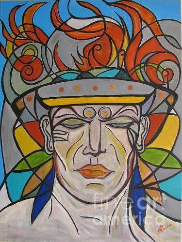 Warrior Painting by NVJasmin Rodriguez Garcia