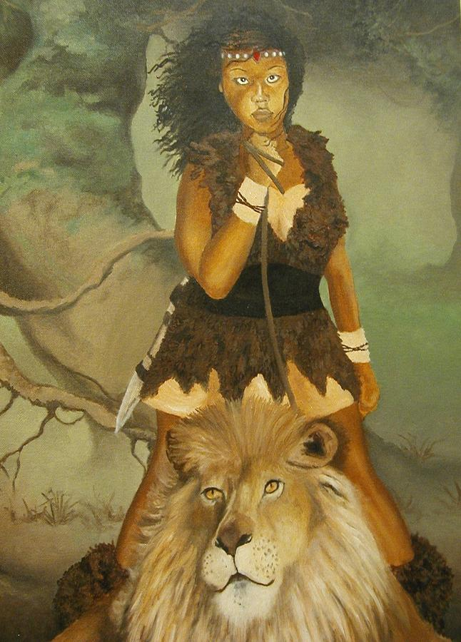 Portrait Painting - Warrior Princess by Angelo Thomas