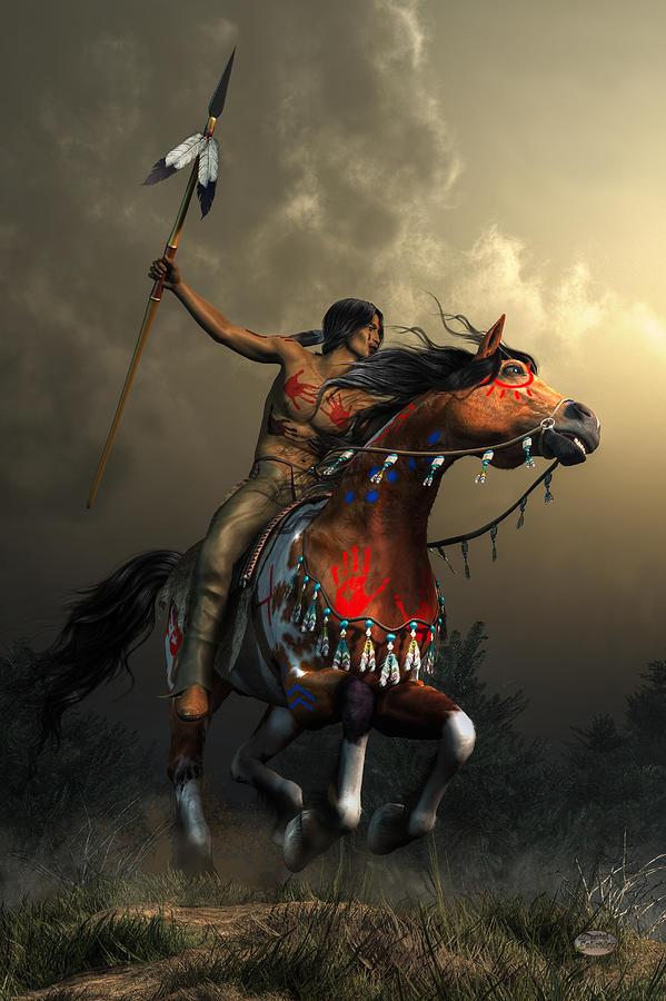 Warrior Digital Art - Warriors Of The Plains by Daniel Eskridge