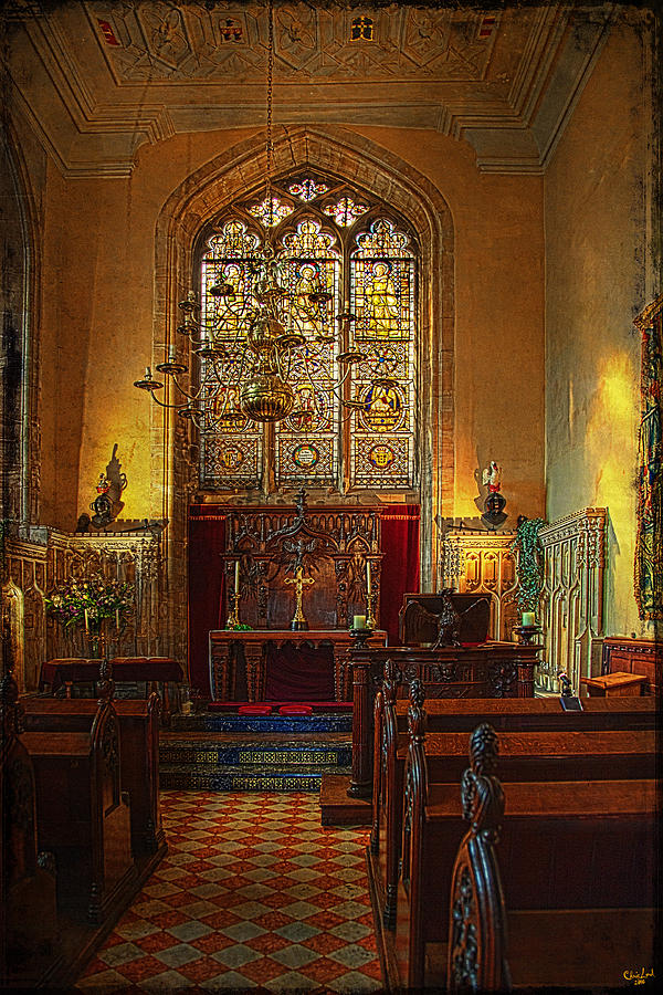 Altar Photograph - Warwick Castle Chapel by Chris Lord
