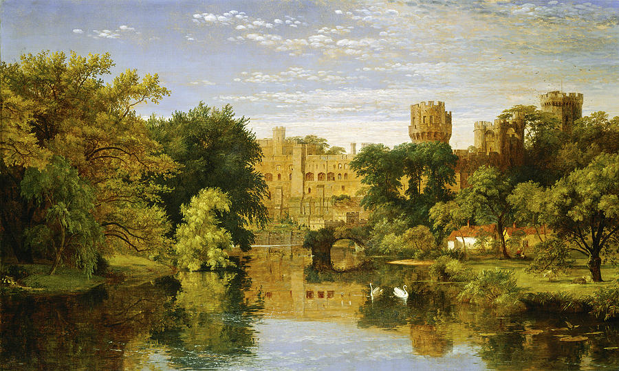 Warwick Castle Painting By Jasper Francis Cropsey