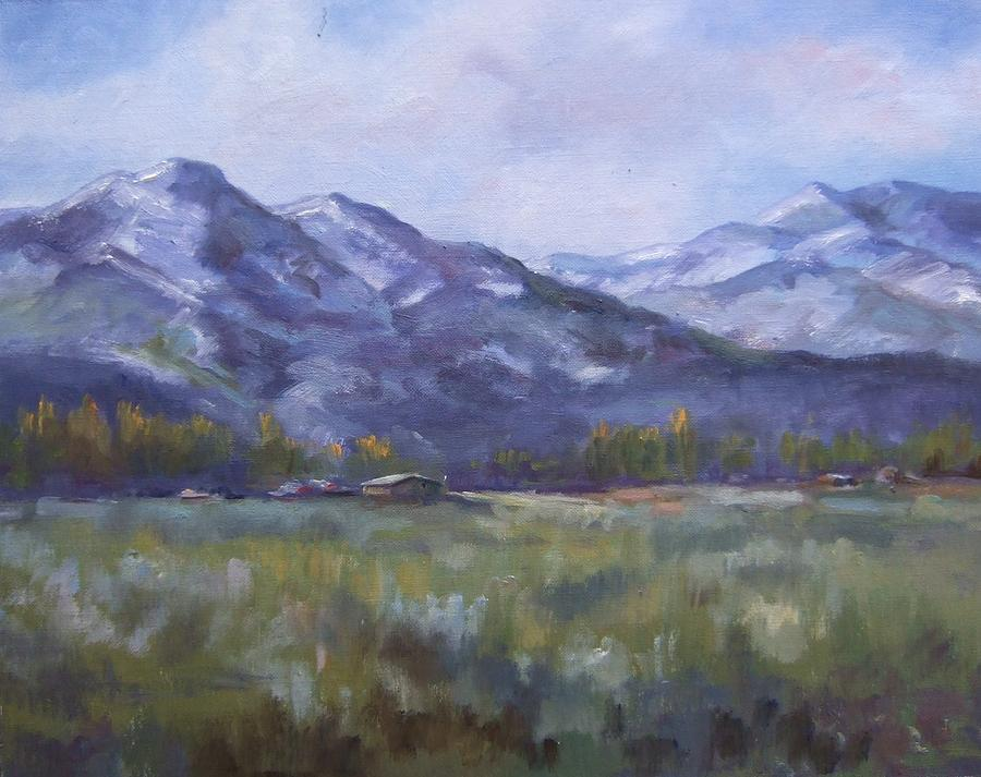 Mountains Painting - Wasacth View by Ruth Stromswold