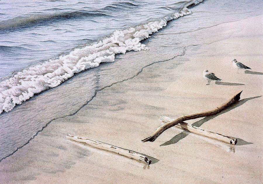 Seascape Painting - Wasaga Beach Surf by Conrad Mieschke