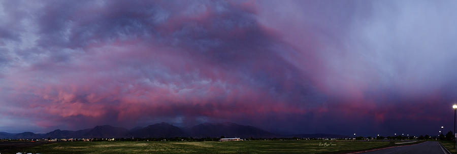 Landscape Photography Photograph - Wasatch Mountain Sunset by La Rae  Roberts