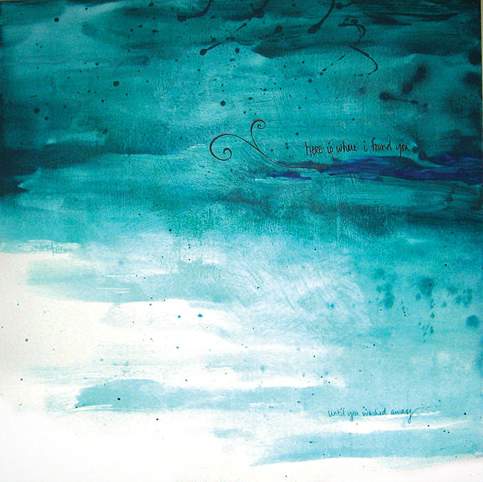 Abstract Painting - Wash Away by Amber Bambler Keller