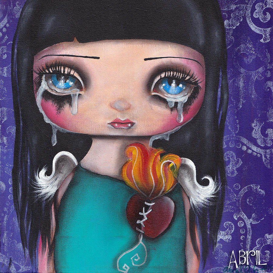Angel Painting - Wash Away My Tears by  Abril Andrade Griffith