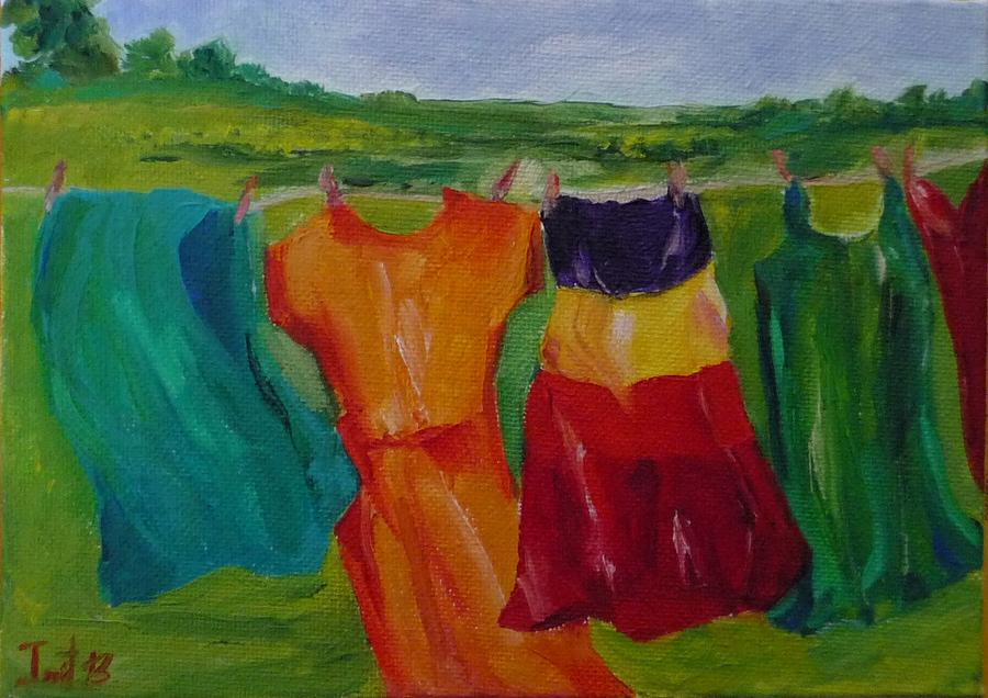 Wash Dance Painting by Irit Bourla