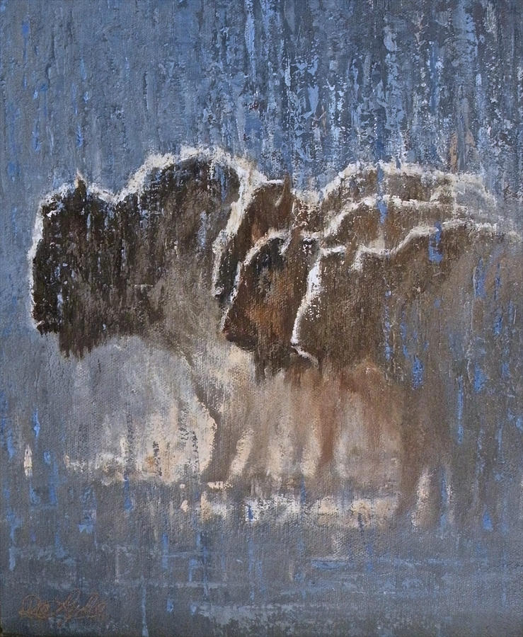 Bison Painting - Wash Day by Mia DeLode