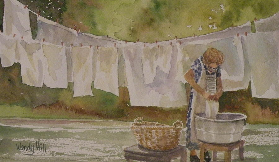 Wash Day Painting - Wash Day Two by Wendy Hill