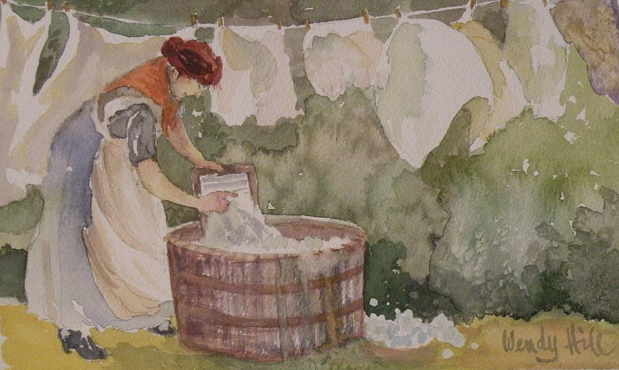Washing Painting - Wash Day by Wendy Hill