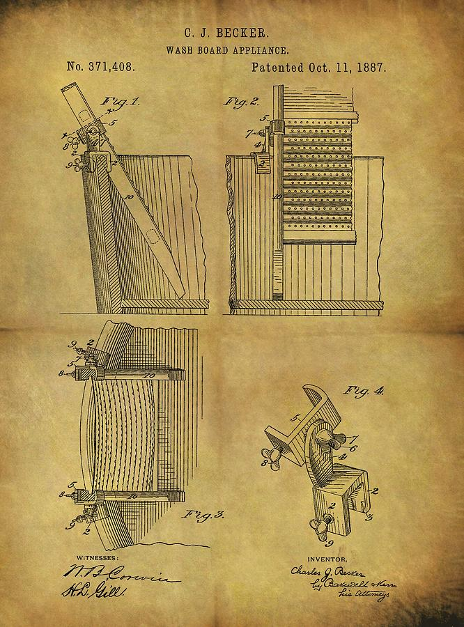 Washboard Patent Drawing
