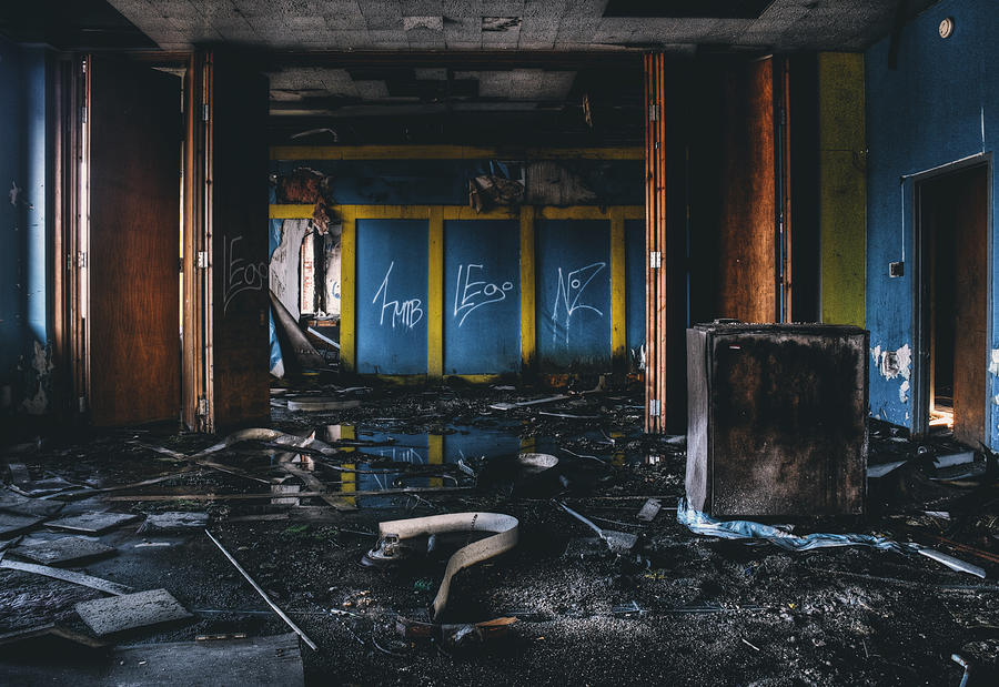 Abandoned Photograph - Washed Away - Abandoned Building Interior by Dylan Murphy