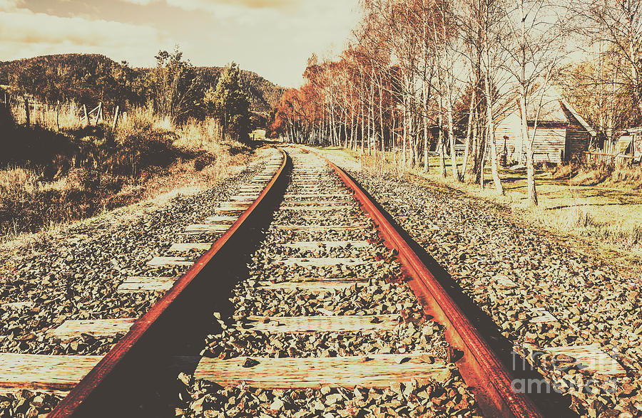Railway Photograph - Washed Out Lines by Jorgo Photography - Wall Art Gallery
