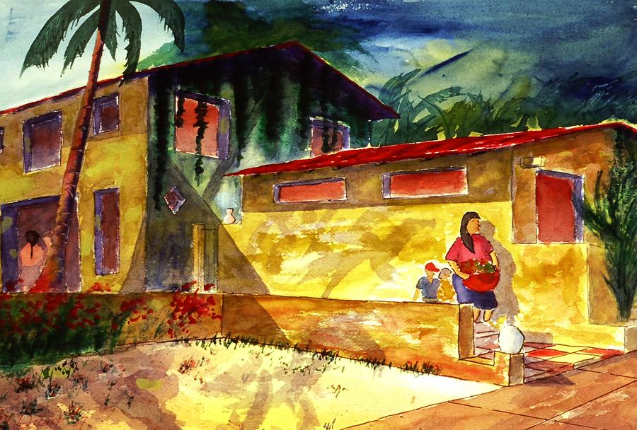 Mexico Painting - Washer Women by Buster Dight