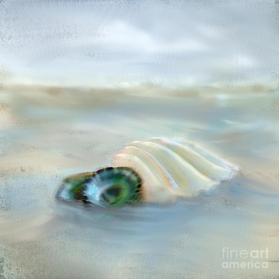 Sea Shell Photograph - Washing Away by Betty LaRue