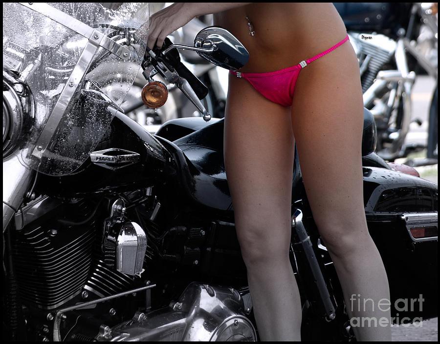 Harley Davidson Photograph - Washing Harley by Steven Digman