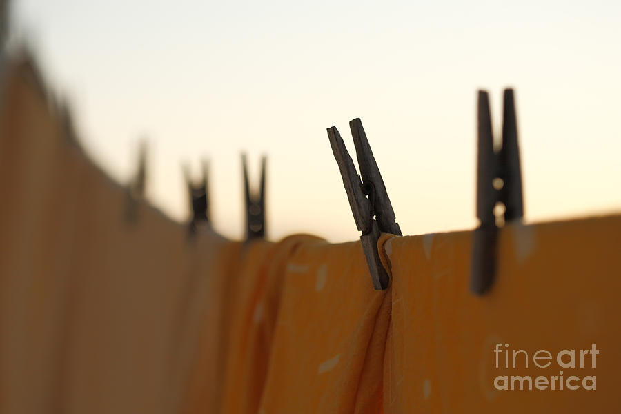 Laundry Photograph - Washing Line by Gaspar Avila