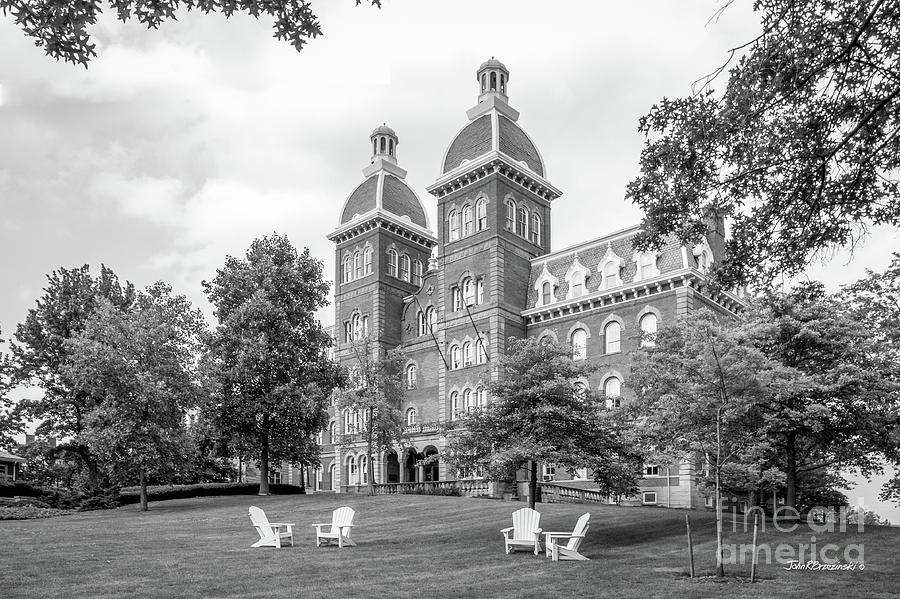 Civil War Photograph - Washington And Jefferson College Old Main by University Icons