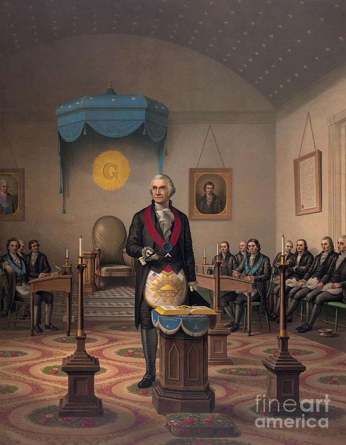 Washington Painting - Washington As A Master Mason by American School
