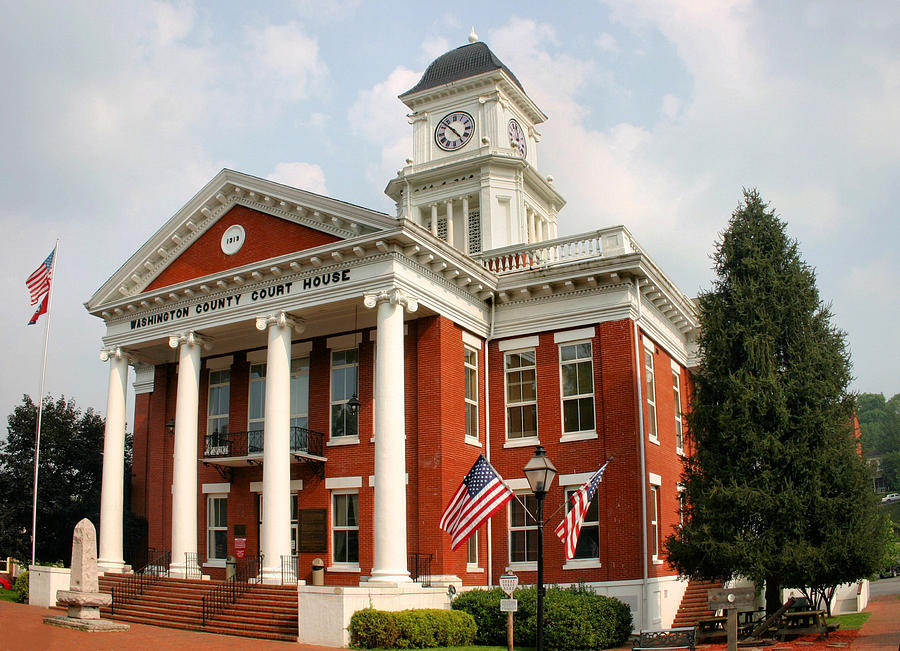 Washington Photograph - Washington County Courthouse by Kristin Elmquist