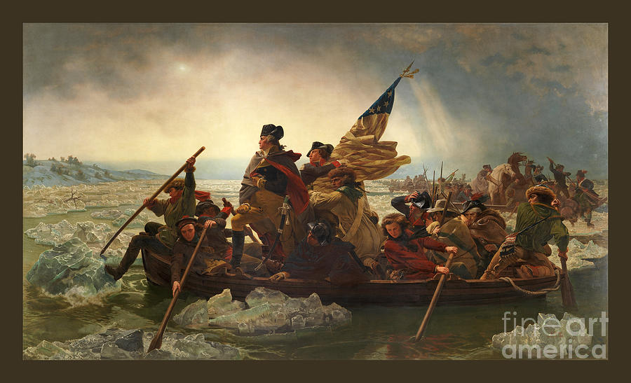 George Washington Photograph - Washington Crossing The Delaware by John Stephens