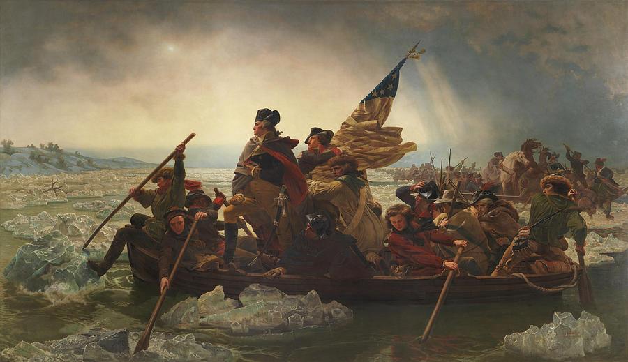Washington Crossing The Delaware Painting - Washington Crossing the Delaware Painting  by Emanuel Gottlieb Leutze