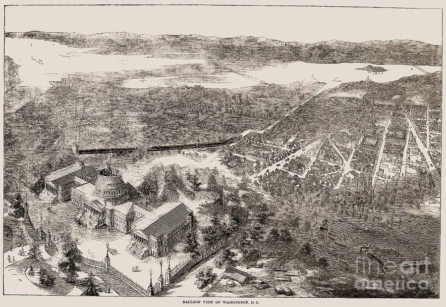 1861 Photograph - Washington, D.c., 1861 by Granger