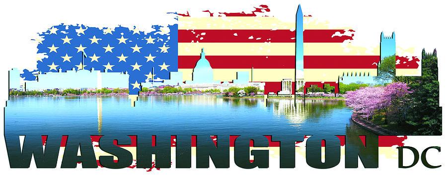 Golden Gate Bridge Digital Art - Washington Dc  by Don Kuing