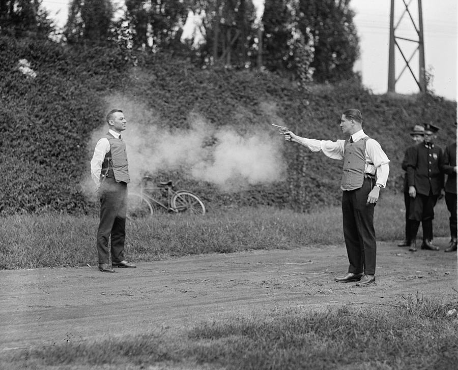 Historical Photograph - Washington, D.c. Law Enforcers Test by Everett