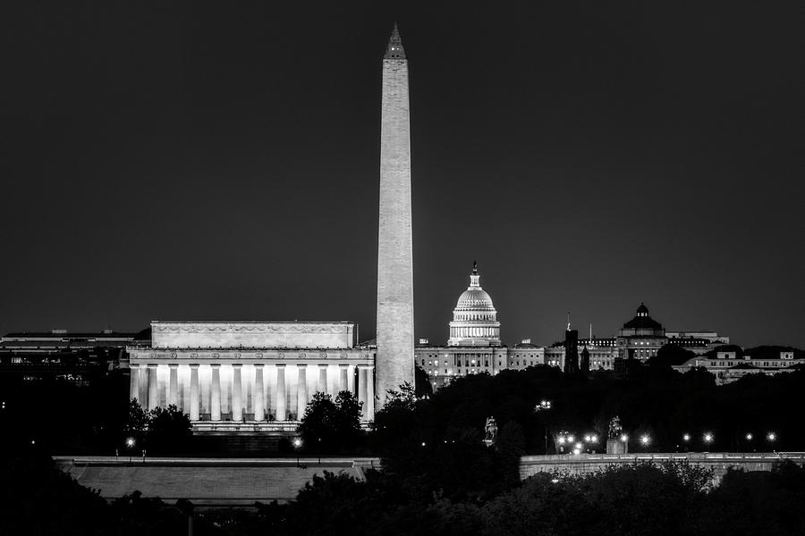 Washington DC Skyline at Night by Bill Dodsworth