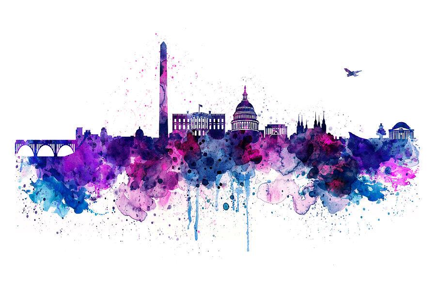 Washington Dc Skyline Mixed Media By Marian Voicu