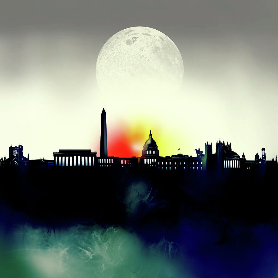 Washington Dc Skyline Surrealism 2 Digital Art