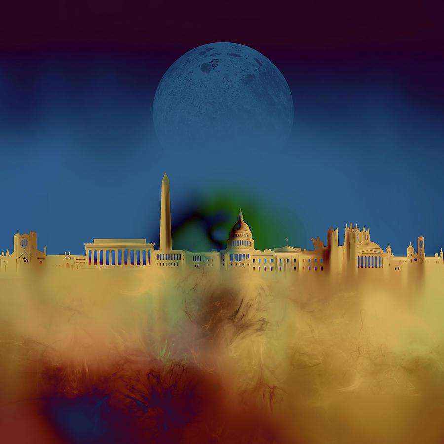 Washington Dc Skyline Surrealism 3 Digital Art