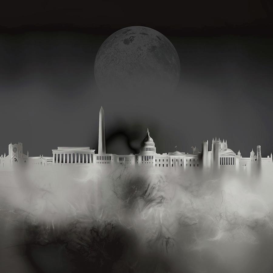 Washington Dc Skyline Surrealism 4 Digital Art