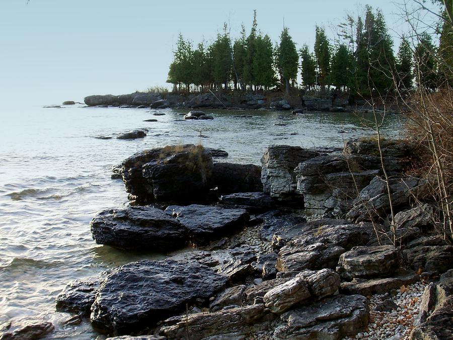 Washington Island Photograph - Washington Island Shore 1 by Anita Burgermeister